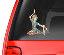 Yoga Girl 2 Art Design Full Color - Vinyl Decal for Car, Macbook, ect.