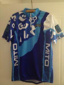 Mito Cycling Top Vintage Retro Bib Jersey Top Original Shirt Rare Mens Size
