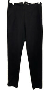 Womens Size 10 Revival Black Jeans Pants Retro 50's Non Stretch Cotton Ankle Zip