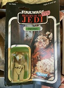 RETURN OF THE JEDI CHIEF CHIRPA 65 BACK SEALED ON CARD,100% CHARITY - Buy It Now