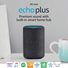 NEW! Amazon Echo Plus (2nd Gen) Smart Speaker - Charcoal - 1 Year Warranty!