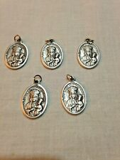 "Our Lady Czestochowa 1"" Silver Oxidized Medals from Italy, lot 5 pcs, NEW"