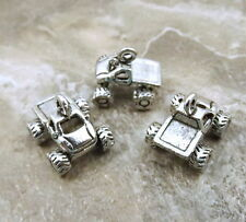 Three (3) Pewter MONSTER TRUCK Charms - 5418