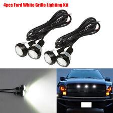 4pc Ford SVT Raptor Style LED White Grille Lighting Kit, Universal Fit Truck SUV