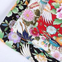 145cm Crane Flower Bronzing Fabric Cotton DIY Kimono Dress Sewing Quilting Craft