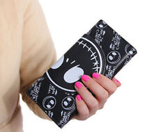 lot nightmare before Christmas black cartoon Children's wallet Fold purses bag