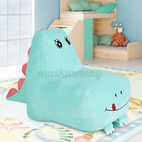 Romhouse Kids Dinosaur High Rebound Foam Filling Lazy Sofa Couch Bean Bag Chair