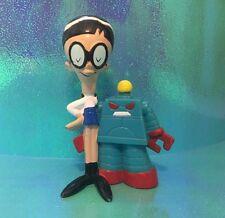 Dexters Laboratory Lab Mandark & Robot Cartoon Network 90s Toy Vinyl Figure PVC