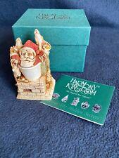 New! Harmony Kingdom Something's Gotta Give Santa Chimney R'Deer Trinket Box Nib