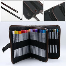 72Pcs Professional Drawing Sketch Brush Pencil Pen Pocket Holder Bag Case Pouch