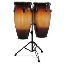 Latin Percussion LP Aspire Wood Conga Set 11/12 in, Double Stand Sunburst