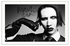 MARILYN MANSON SIGNED PHOTO PRINT AUTOGRAPH MECHANICAL ANIMALS BORN VILLAIN