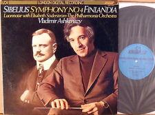 LONDON ffrr DIGITAL Sibelius ASHKENAZY Symphony #4/Finlandia LDR-71019 NM