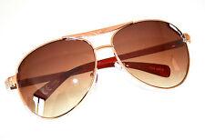 OCCHIALI da sole uomo marroni dorati lenti ovali lunettes sunglasses темные F65