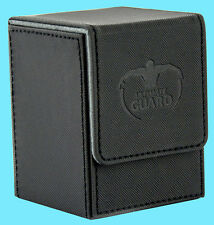 ULTIMATE GUARD XENOSKIN FLIP DECK CASE Standard Size BLACK 100+ MTG Card Box