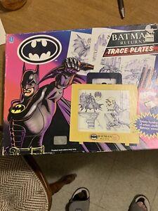 Batman Returns Trace Plates Drawing Board Set Vintage 90s Hasbro DC Comics