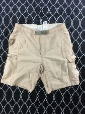 Mens Columbia PFG Packable Beige Mesh-Lined Swim Trunks Shorts Size Small - Z