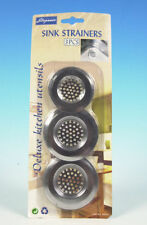 3 PACK SINK STRAINER STEEL KITCHEN STRAINER  WASTE CLEAN