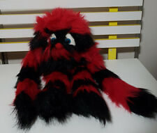 THE PUPPET COMPANY SQUEEKER BLACK AND WHITE MONSTER HAND PUPPET PLUSH TOY