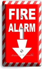 FIRE ALARM DECORATIVE SINGLE LIGHT SWITCH WALL PLATE COVER ROOM HOME ROOM DECOR