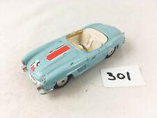CORGI TOYS #303S MERCEDES BENZ 300SL ROADSTER DIECAST CAR BLUE 1963-64 PLAYWORN