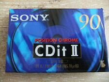 4x Sony CDit II 90 Audio Cassette Tapes - 100 in Cellophane