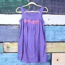 Mini Boden Girls 11-12 Years Purple Embellished Rosette Sundress Sun Dress