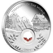 Treasures of the World - Europe Garnet Locket Coin 1 Oz Silver CERTIFICATE 2681