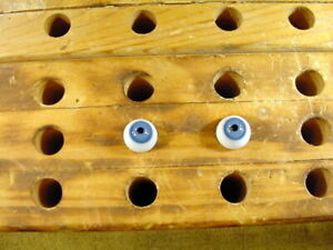 a pair vintage Glass Eyes size 11 mm age 1910 for dolls or bears Lauscha A 6106