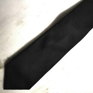 Boss Hugo Black Label Black Satin Luxury necktie 100% Genuine silk Made in Italy