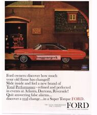 1963 Ford Galaxie 500 XL Red 2-door Hardtop Mayfield Fire Station Vtg Print Ad