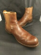 Ugg Stevenson Chelsea Leather Boots SheepSkin Heel Leather Welt Men's Sz 12