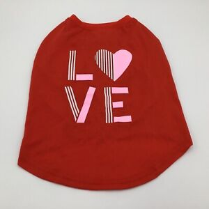 Top Paw 'Love' Tee T Shirt For Dogs Dog Red Medium NWT