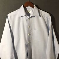 ETON Classic Fit Blue Button Front Men's Dress Shirt Size 44 17.5 XL