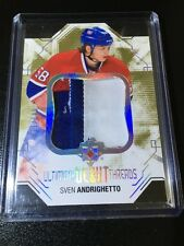 2014-15 Ultimate #DT-SA Sven Andrighetto Debut Threads 3 color Patch /100