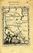 "1683 Genuine Antique map ""1682 Curdistan Diarbeck"", Euphrates, Iraq. A M Mallet"