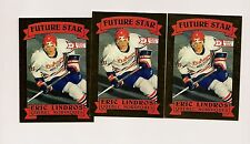 3 X 1990-91 NORDIQUES ERIC LINDROS FUTURE STAR # 1 DRAFT LIMITED CARD (INV#2699)