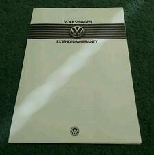 1985 VW EXTENDED WARRANTY UK BROCHURE & PRICES Polo Golf Jetta Scirocco Passat