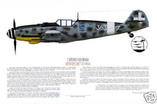 "Ernie Boyette Bf-109G6 Print ""Ugo Drago"" Signed by Italian Ace Ugo Drago"