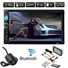 "7"" Double 2DIN Car MP5 MP3 Player Bluetooth Touch Screen Stereo Radio HD +Cam VP"