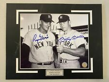 GFA AUTHENTIC ROGER MARIS & WILLIE MAYS AUTOGRAPHED GLOSSY B/W PHOTO 8x10