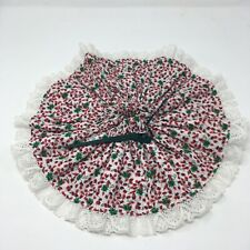 "Fabric Mini Christmas Tree Skirt  14"" diameter 100% cotton / table center piece"