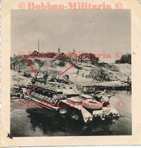 W218 Litauen Wilna Panzerkampfwagen IV auf Tielflader Wehrmacht Sonderanhänger