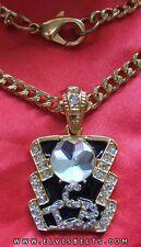 Elvis Style crystal TCB Pendant