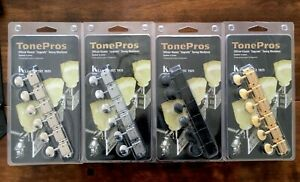 TonePros Kluson Tuners 6 in line LEFT hand Tuning Machine Heads many variations