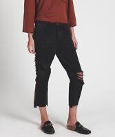 One Teaspoon HOOLIGANS Jeans 23 24 26 27 31 Black Van Low Relaxed Straight NWT