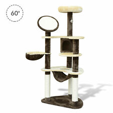 "60"" Cat Tree Scratching Post Pet Condo Hammock Multilevel Cat Tower House"