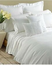 DKNY PURE TAPESTRY White Victorian Damask 4P Queen Duvet Set Dept Store Line