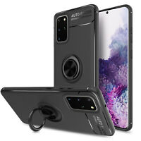 For Samsung Galaxy S20 Plus Ultra 5G Magnetic Ring Stand Holder Armor Case Cover