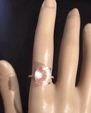 8.89CT NATURAL MORGANITE AND DIAMOND RING IN 10K ROSE GOLD